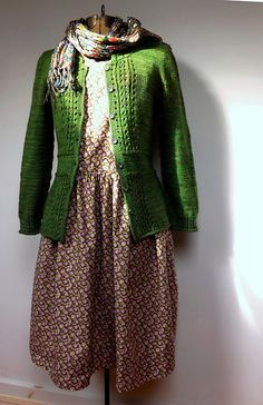 Fannie Fouche by Ellen Mason {odacier on Ravelry} : handmade dress & cardigan