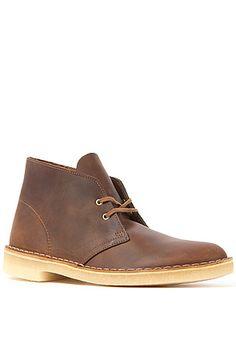 Clarks Originals Shoe Desert Boot Beeswax Leather in Brown