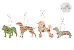 This would be a fun gift-topper project to make with wood cut outs and fabric