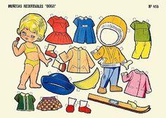 (⑅ ॣ•͈ᴗ•͈ ॣ)                                                               ✄Muñecas recortables, Editorial Boga, Bilbao, 1969. Decoupage Vintage, Vintage Paper Dolls, Antique Dolls, All Paper, Paper Art, Paper Crafts, Paper Quilt, Kawaii Doodles, Dress Up Dolls