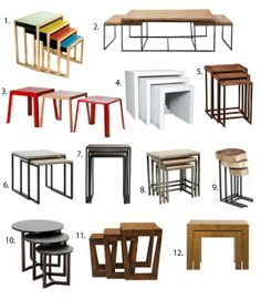 Best Nesting Tables 2013 Apartment Therapy s Annual Guide My Living Room, Living Room Decor, Apartment Therapy, Diy Furniture, Furniture Design, Steel Coffee Table, House Plants Decor, Interior Decorating, Interior Design