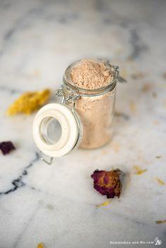 Calendula Rose Foaming Cleansing Powder - Humblebee & Me Calendula Oil, Dried Rose Petals, Fractionated Coconut Oil, Facial Cleansing, Natural Solutions, Jojoba Oil, Fragrance Oil, Cleanser, Herbalism