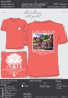 ADPi Zeta Nu- Sweet Southern Comfort tshirt!