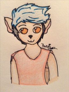 Fanart for @AlexAbility of their oc Oliver! He is a precious lil floofer. I drew this in my other style since I couldn't figure out how to draw a non-human character in a semi-realistic style. Anyways, enjoy!  By: Karuri Chan