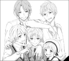 YES! Someone finaly included Peter (Sealand) as one of the Kirkland brothers! People always seem to forget him :(