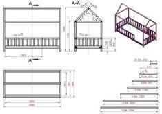 Cama casa DIY para crianças – Janni's Zimmer - Favoritas Toddler Floor Bed, Toddler House Bed, Diy Toddler Bed, Girl Bedroom Designs, Kids Bedroom, Lego Bedroom, Montessori Bed, Diy Bett, Baby Boy Rooms