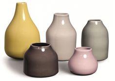 Botanica mini vases from Kähler by Mette Bache, Barbara Bendix Becker Ceramic Cups, Ceramic Pottery, Bud Vases, Flower Vases, Flowers, Design Vase, European Home Decor, Wood Vinyl, Vases Decor