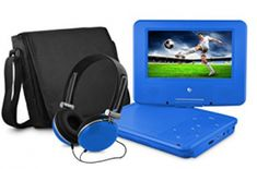 Refurbished Ematic 9 inch Portable DVD Player Bundle with Matching Headphones and Carrying Bag - Teal, Blue Purple Bags, Blue Bags, Red Purple, Teal Green, Color Blue, Stereo Speakers, Portable Speakers, Tv Videos, Cool Things To Buy