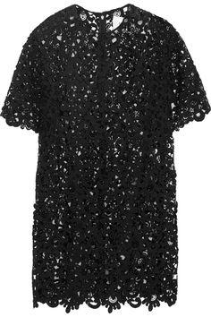 Valentino|Macramé lace mini dress |NET-A-PORTER.COM