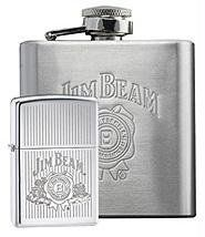 """Zippo Jim Beam Lighter Gift Set by Zippo. $52.50. The World Famous Zippo® Guarantee Any Zippo metal product, when returned to our factory will be put in first class condition free of charge, for we have yet to charge a cent for the repair of a Zippo metal product, regardless of age or condition. The finish, however, is not guaranteed. This guarantee gives you specific legal rights and you may also have other rights which vary from state to state. """"It works or we f..."""
