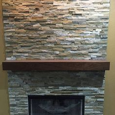 Cherry floating mantel. This was sold in our Etsy.com store.  Standard sizes and custom sizes available.  #custommantels #customcornersllc #customcorners #fireplacemantel #stonefireplace #mantelpiece #mantel #mantle #mantlepiece #rusticmantel #rusticmantle #rusticmantles #modernmantel #boxmantel #beammantle #beammantel #fireplaces #fireplaceidea #fireplaceideas #stackedstonefireplace #etsyshop #etsy #cherrywood #cherrymantel #stackedstonefireplace
