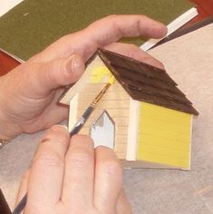 how to: doghouse for the dollhouse in 1/12 scale