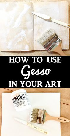 What is Gesso - a Comprehensive Guide! What is Gesso and how to use it. This is a Comprehensive Guide to using this Arts and Crafts Medium in your Mixed Media, Handmade or Junk Journal projects. By Rebecca Parsons for The Graphics Fairy Acrylic Painting Techniques, Painting Lessons, Painting Tips, Art Techniques, Art Lessons, Painting Pictures, Encaustic Painting, Acrylic Paintings, Art Paintings