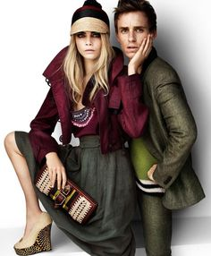 Burberry Spring Summer 2012 Ad Campaign Featuring Eddie Redmayne And Cara Delevingne