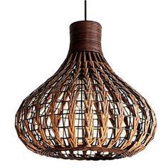 $59.99 Ceiling Lights 40W Contemporary Hand-Made Bine Pendant Light Natural Design
