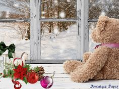 DIY Diamonds Embroidery Bear Crafts Square Diamonds Window Set Snow For Embroidery Cross Stitch Icon Kit home decoration gift Tatty Teddy, Ours Boyds, Mery Crismas, Photo Ours, Windows Wallpaper, Mac Wallpaper, Bear Crafts, Christmas Photography, Cute Teddy Bears