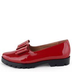 Туфли красные лаковые Basconi натуральная кожа