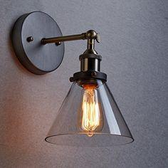 CLAXY® Ecopower Industrial Edison Antique Glass 1-Light Wall Sconces Simplicity by CLAXY, http://www.amazon.com/dp/B00KBGR95C/ref=cm_sw_r_pi_dp_x_qF7FzbGXF6KKX Bathroom Sconces, Bathroom Light Fixtures, Pendant Light Fixtures, Wall Sconces, Bathroom Lighting, Pendant Lights, Bathrooms, Wall Sconce Lighting, Porch Lighting