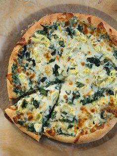 Spinach Artichoke Pizza @FoodBlogs