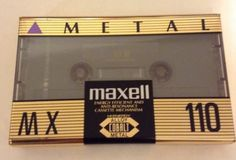Maxell MX 110 High Bias Type Iv Metal  Audio Cassette Tape Vintage Blank Media
