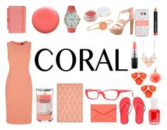 """coral"" by baileeflecknoe ❤ liked on Polyvore featuring Jaeger, Charlotte Russe, Rebecca Minkoff, Kate Spade, Olivia Pratt, MAC Cosmetics, Essie, Bobbi Brown Cosmetics, Full Tilt and Herbivore Botanicals"