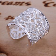 Free Shipping 925 Sterling Silver Ring Fashion Inlaid Zircon Multi Heart Ring Women&Men Gift Silver Jewelry Finger Rings SMTR106 US $2.44