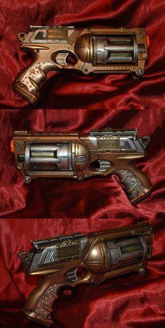 Steampunk Nerf Gun 1 by NoFlutter on DeviantArt