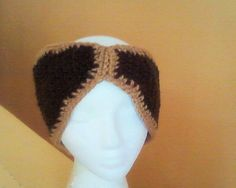 brown and cream head band