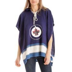 Winnipeg Jets NHL Stylish Knitted Cowl Hood Poncho (One Size Fits Most)