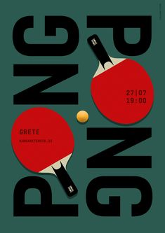 Ping Pong / Table Tennis Poster // Graphic Design, Illustration © 2016 Christian Chladny                                                                                                                                                                                 More