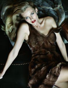 Edita Vilkeviciute in Céline, photographed by Mario Testino for Vogue Paris October 2013.