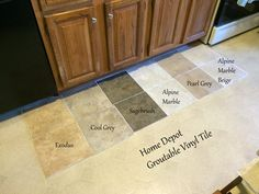 12 in. x 24 in. Coastal Grey Resilient Vinyl Tile Flooring (30 sq. ft ...