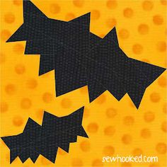 Quilt Inspiration: Free Pattern Day: Halloween Halloween Quilt Patterns, Halloween Quilts, Halloween Fabric, Halloween Sewing, Fun Halloween Crafts, Halloween Table, Holiday Crafts, Paper Piecing Patterns, Quilt Patterns Free