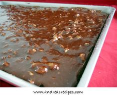 If your looking for the best recipe in the world for Chocolate Cake here it is. I promise you that this will be the best chocolate cake you'll ever eat in your life. So lets make cake. Sheet Cake Recipes, Dessert Cake Recipes, Just Desserts, Sheet Cakes, Healthier Desserts, Dessert Ideas, Worlds Best Chocolate Cake Recipe, Chocolate Desserts, Chocolate Chocolate