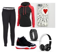 """""""Untitled #395"""" by emilyolson2019 on Polyvore featuring Under Armour, Beats by Dr. Dre and Fitbit"""