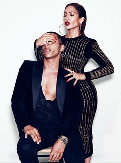 J.Lo & Olivier Rousteing by Nicolas Moore for Paper Magazine .