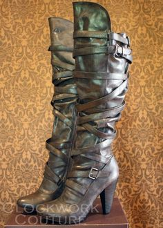Steampunk boots from Clockwork Couture