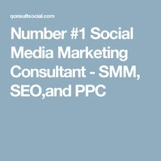 Number #1 Social Media Marketing Consultant - SMM, SEO,and PPC