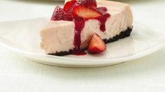 What's the secret to amazing cheesecake with less than half the fat and calories of most other cheesecakes? Yogurt!