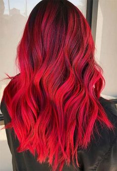 Red Hair Color Shades: Red Hair Dye Tips & IdeasYou can find Bright red hair and more on our website.Red Hair Color Shades: Red Hair Dye Tips & Ideas Red Hair Dye Colors, Dyed Hair Purple, Cool Hair Color, Color Red, Yellow Hair, Bright Red Hair Dye, Red Pink Hair, Colorful Hair, Crazy Color Hair Dye