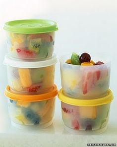 Make healthy snacks ready for the kids to grab or to put in their lunches.