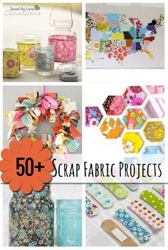 The 50 Best Scrap Fabric Crafts @savedbyloves | DIY Crafty Time