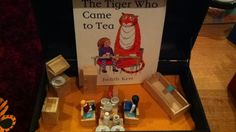 The tiger who came to tea invitation to explore book. Eyfs Activities, Book Activities, Spot Books, Children Stories, Reading Tree, Story Sack, Tuff Spot, Story Retell, Book Corners