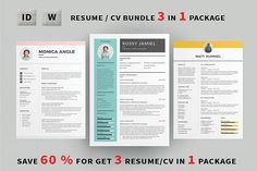 Resume/CV Bundle by Occy Design on @creativemarket #bundle #resume #cv #cvtemplate #icons #packaging