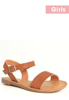 b5a236642a10 Soda Shoes Bigboss Banded Sandals for Girls in Tan BIGBOSS-IIS-TAN ...