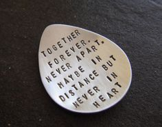 together forever. never apart. maybe in distance but never in heart