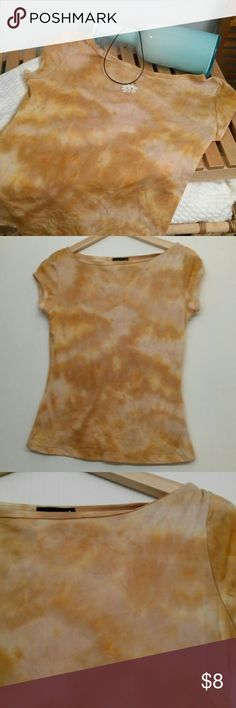 Wet Seal tie-dyed top large orange festival season Tie-dyed orange top by wet seal. Perfect for music festivals! Or just about anything else.  Size large. 100% nylon.  Some snags shown I. Pictures. Price reflects these. Wet Seal Tops Tees - Short Sleeve