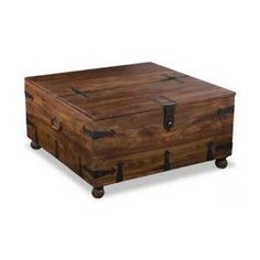 Tahoe Square Bar Coffee Table By Jaipur Constructed Of Solid Heavy Hardwood Wood Has Unique Grain And Walnut Stain Wine Storage With Removable Holders Lif