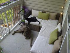 small balcony style