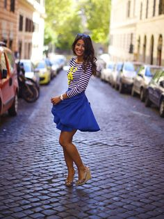 Love the color combination, blue and yellow! #mimiikonn
